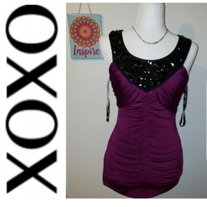 XOXO Women's Ruched blouse